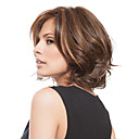 cheap Human Hair Capless Wigs-Synthetic Wig Wavy Brown Bob / Layered Haircut / Side Part Brown Synthetic Hair Women's Fashion / With Bangs Brown Wig Short Capless StrongBeauty