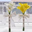 "baratos Bouquets de Noiva-Bouquets de Noiva Buquês Casamento Miçangas Poliéster Cetim Espuma 12.6""(Aprox.32cm)"