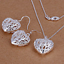 cheap Brooches-Jewelry Set - Cubic Zirconia, Silver Plated Love Party, Cute Include Silver For Party / Earrings / Necklace