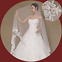 cheap Wall Stickers-One-tier Lace Applique Edge Wedding Veil Cathedral Veils 53 Embroidery Lace Tulle