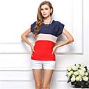 ieftine Ceasuri La Modă-Pentru femei Mărime Plus Size Bluză Bloc Culoare Peteci / Vară