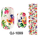 cheap Water Transfer Nail Stickers-3D Nail Stickers Flower / Fashion Lovely Daily