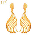 cheap Earrings-Women's Tassel / Hollow Out Drop Earrings - Gold Plated Leaf Vintage, Party, Work Gold / Silver For Daily