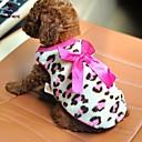 billige Hundeklær-Kat / Hund Trøye / T-skjorte Hundeklær Sløyfeknute Rød / Rosa Polar Fleece Kostume For kjæledyr Herre / Dame Fritid / hverdag