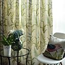 tanie Zasłony okienne-zasłony zasłony Salon Poly / Cotton Mieszanka Wydrukować