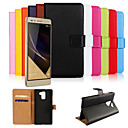 cheap Cell Phone Cases & Screen Protectors-Case For Huawei Honor 7 Huawei Huawei Case Card Holder Wallet with Stand Flip Full Body Cases Solid Color Hard PU Leather for Huawei