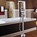 abordables Grifos de Bañera-Grifo de bañera - Moderno Cromo Bañera y ducha Válvula Cerámica