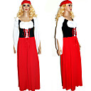 cheap Dance Accessories-Oktoberfest Bavarian Cosplay Costume Party Costume Women's Christmas Halloween Carnival Festival / Holiday Outfits Red Patchwork