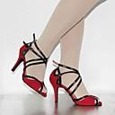 hesapli LED Şerit Işıklar-Kadın's Latin Dans Ayakkabıları / Dans Sneakerları Süet Yüksek Topuklular Bağcıklı Stiletto Topuk Kişiselleştirilmiş Dans Ayakkabıları