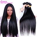 זול תוספות שיער בגוון טבעי-3 חבילות שיער ברזיאלי ישר שיער בתולי טווה שיער אדם 8-30 אִינְטשׁ שוזרת שיער אנושי 5 א תוספות שיער אדם