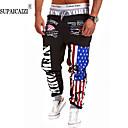 abordables Zapatillas de Hombre-Hombre Clásico Alta cintura Corte Recto / Activo / Pantalones de Deporte Pantalones - Estampado / A Cuadros / Color sólido