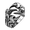 cheap Men's Necklaces-Men's Ring - Stainless Steel, Titanium Steel Dragon Personalized, Fashion 9 / 10 / 11 Silver For Halloween / Daily / Casual
