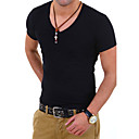 cheap Fashion Watches-Men's Sports Work Plus Size Cotton Slim T-shirt - Solid Colored