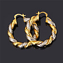 cheap Rings-Women's Hoop Earrings / Earrings - Gold Plated Vintage, Party, Work Gold / Silver / Screen Color For Daily