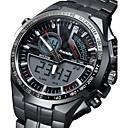 abordables Relojes de Correa de Cuero-Hombre Reloj Militar Despertador / Calendario / Noctilucente Acero Inoxidable Banda Encanto / Lujo Negro / Sony S626 / Dos año