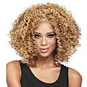 halpa Hääkoristeet-Synteettiset peruukit Kihara Vaaleahiuksisuus Epäsymmetrinen leikkaus Synteettiset hiukset Luonnollinen hiusviiva / Afro-amerikkalainen peruukki Vaaleahiuksisuus Peruukki Naisten Lyhyt