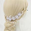 baratos Acessórios de Cabelo-Chifon / Imitação de Pérola / Liga Pentes de cabelo com 1 Casamento / Ocasião Especial Capacete