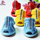 preiswerte Hundekleidung-Katze Hund Schuhe und Stiefel Lässig/Alltäglich Solide Gelb Rot Blau Rosa Regenbogen Für Haustiere