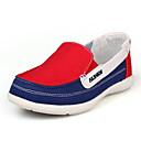 baratos Mocassins Femininos-Mulheres Sapatos Lona Verão / Outono Mocassim Sem Salto Vermelho / Verde / Azul Claro