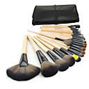 cheap Makeup Brush Sets-24pcs Makeup Brushes Professional Eyeliner Brush Blush Brush Foundation Brush Lip Brush Eyebrow Brush Eyeshadow Brush Concealer Brush Contour Brush Portable / Travel / Eco-friendly Wood