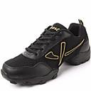 olcso Modern cipők-Férfi Tánccipők Bőr Sportcipő / Kétrészes talp Fűző Alacsony Szabványos méret Dance Shoes Fekete / Arany