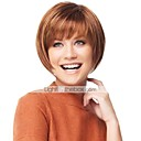 cheap Synthetic Wigs-Human Hair Capless Wigs Human Hair Straight Bob Haircut With Bangs Short Capless Wig Women's