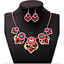 cheap Necklaces-Beads Jewelry Set - Cubic Zirconia Statement, Vintage, Party Include Rainbow For / Earrings / Necklace