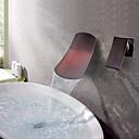 preiswerte Badarmaturen-Antike Wandmontage Wasserfall Keramisches Ventil Zwei Löcher Einzigen Handgriff Zwei Löcher Öl-riebe Bronze, Waschbecken Wasserhahn