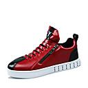 abordables Oxfords para Hombre-Hombre Zapatos Semicuero Primavera Otoño Confort Cremallera para Casual Blanco Negro Rojo
