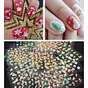 baratos Strass & Decorações-30 pcs Autocolantes de Unhas 3D arte de unha Manicure e pedicure Adorável Abstracto / Desenho / Fashion Diário / Etiquetas de unhas 3D