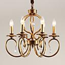 זול שזירה Remy  משיער אנושי-5 מנורות תלויות ,  מסורתי/ קלאסי Brass מאפיין for סגנון קטן מתכת חדר שינה / חדר אוכל / מטבח / חדר עבודה / משרד