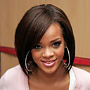cheap Human Hair Wigs-Human Hair Lace Front Wig Brazilian Hair Straight Wig Bob 120% Density with Baby Hair Ombre Hair Natural Hairline African American Wig 100% Hand Tied Women's Short Medium Length Human Hair Lace Wig