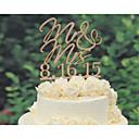 hesapli Düğün Dekorasyonları-Pasta Üstü Figürler Kişiselleştirilmiş Klasik Çift / Kalpler Kart Kağıdı Düğün / Yıldönümü / Gelin Duşu SarıÇiçek Teması / Klasik Tema /