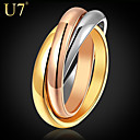 cheap Earrings-Women's Stack Ring - Stainless Steel, Gold Plated, Rose Gold Plated Vintage, Party, Work Rainbow For Daily