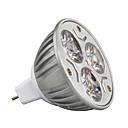 baratos Lâmpadas LED de Foco-3W 210-245lm GU5.3(MR16) Lâmpadas de Foco de LED MR16 3 Contas LED LED de Alta Potência Decorativa Branco Quente / Branco Frio / RGB 12V