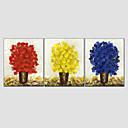 abordables Cuadros Abstractos-Pintura al óleo pintada a colgar Pintada a mano - Floral / Botánico Estilo europeo Modern Lona