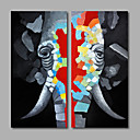cheap Abstract Paintings-Oil Painting Hand Painted - Pop Art Modern Canvas
