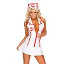 זול תחפושות אנימה-תחפושות קוספליי תחפושת למסיבה Nurses תחפושות קריירה פסטיבל/חג תחפושות ליל כל הקדושים לבן קולור בלוק עגילהאלווין (ליל כל הקדושים) חג המולד