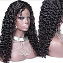 tanie Peruki z włosów ludzkich-Włosy naturalne Front lace bez kleju Siateczka z przodu Peruka Curly Peruka 130% Gęstość włosów Naturalna linia włosów Peruka afroamerykańska W 100% ręcznie wiązane Damskie Krótkie Długość średnia