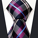 cheap Men's Accessories-Men's Party Basic Rayon Necktie - Rainbow Plaid Basic