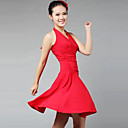abordables Zapatos de Baile Latino-Baile Latino Vestidos y faldas Mujer Entrenamiento / Rendimiento Fibra de Leche Recogido Sin Mangas Vestido / Danza Latina / Desempeño