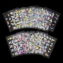billige 3D-klistremerker-4 pcs 3D Negle Stickers Negle Smykker Neglekunst Manikyr pedikyr Smuk Mote Daglig / PVC / Nail Smykker / 3D Nail Stickers