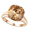 baratos Anéis-Mulheres Cristal Anel de declaração - Imitações de Diamante, Liga Luxo, Fashion Tamanho Único Vermelho / Champanhe Para Casamento / Festa