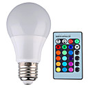 cheap Night Lights-YWXLIGHT® 500 lm E26/E27 LED Globe Bulbs A60(A19) 1 leds High Power LED Dimmable Decorative Remote-Controlled RGB AC 85-265V