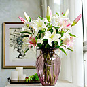 cheap Christmas Decorations-Artificial Flowers 2 Branch European Style Lilies Tabletop Flower