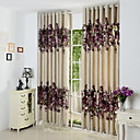 cheap Blackout Curtains-Curtains Drapes Living Room Contemporary Polyester Hollow Out