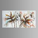 billige Hodeplagg til fest-Hang malte oljemaleri Håndmalte - Blomstret / Botanisk Moderne Inkluder indre ramme / Stretched Canvas