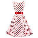 cheap Bakeware-Women's Party Vintage Cotton A Line Dress - Polka Dot Pleated
