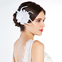 cheap Party Headpieces-Crystal Fabric Tiaras Flowers 1 Wedding Special Occasion Party / Evening Outdoor Headpiece