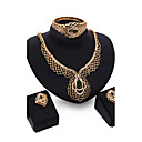 cheap Jewelry Sets-Chunky Jewelry Set - 18K Gold Plated, Cubic Zirconia Vintage, Party, Work Include Gold For Wedding / Party / Special Occasion / Earrings / Necklace